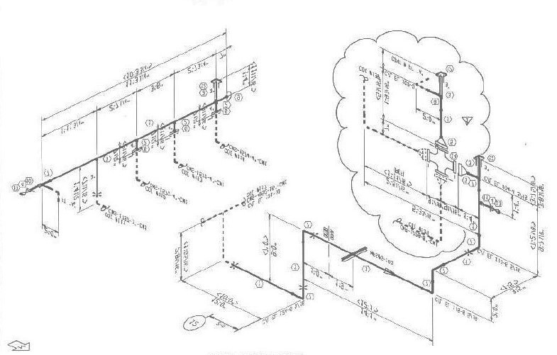 isometric piping drawing sketch coloring page